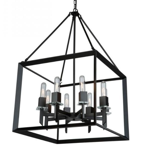 Looking To Add A Matte Black Open Cage Lantern To Your Home The Modern And Affordable Vineyard Chandelier By Artcr Chandelier Black Chandelier Modern Lanterns