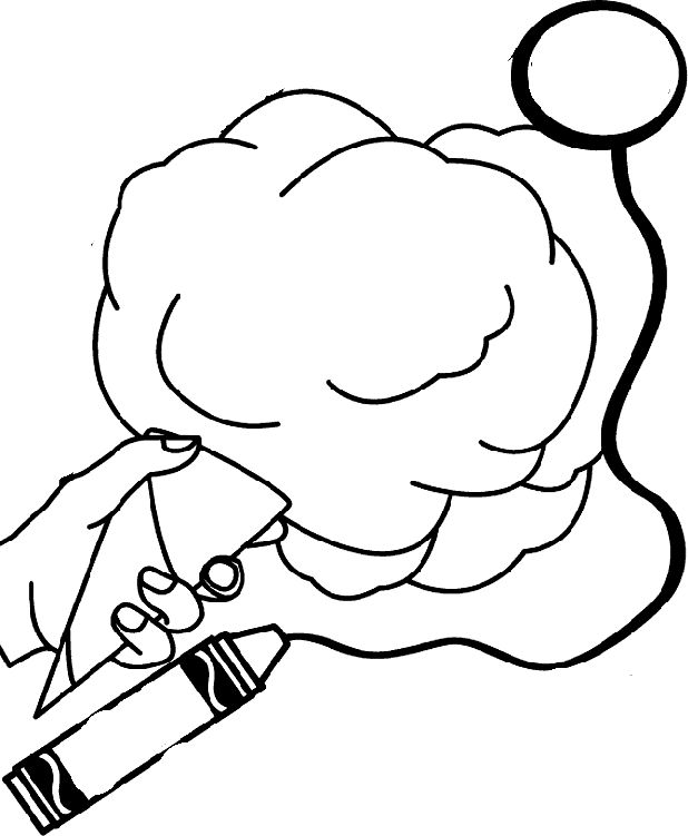 Cotton candy coloring pages the image for Cotton candy coloring page