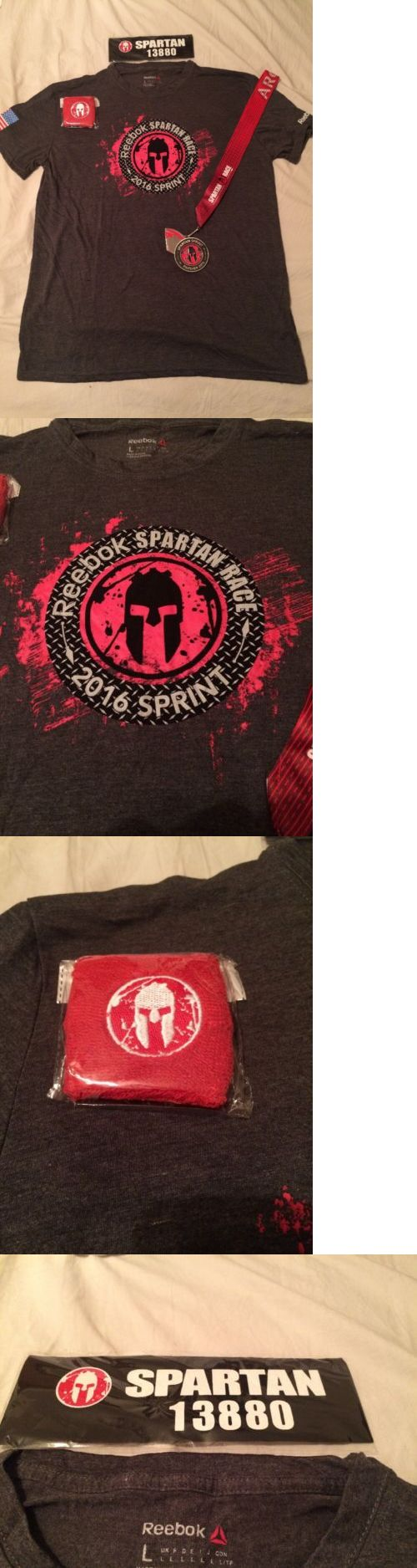 Other Fitness Clothing 158920: 2016 Spartan Race Finisher Collection: T-Shirt (L), Medal, Headband, Wristband -> BUY IT NOW ONLY: $49.99 on eBay!