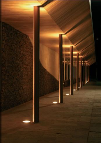 Canopy Lighting Integrated Ground Lighting Exterior