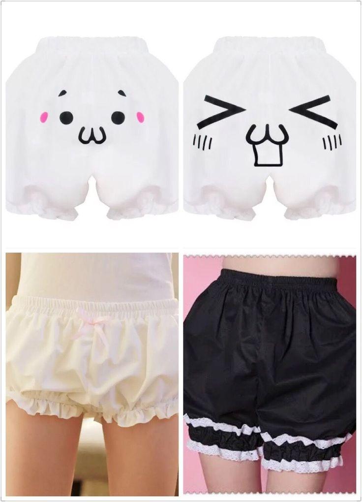Japanese Sweet Lolita Kawaii Kaomoji-Kun Emoticon Bottoming Shorts Gothic#Ddh215