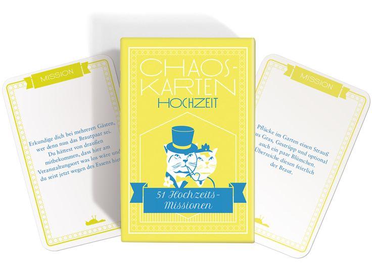Hochzeitsspiel Chaoskarten für Trauzeugen als Überraschung für Hochzeit