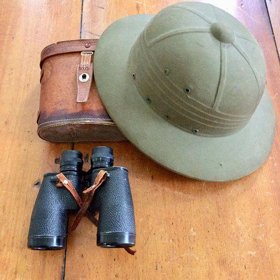 390cf3efdef7d Instant Explorer ... vintage pith helmet and binocs