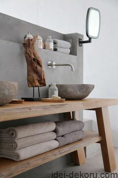 Бетон у дизайні ванної кімнати