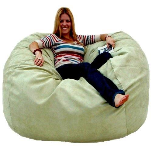 5 Feet Sage Cozy Sac Bean Bag Chair Love Seat