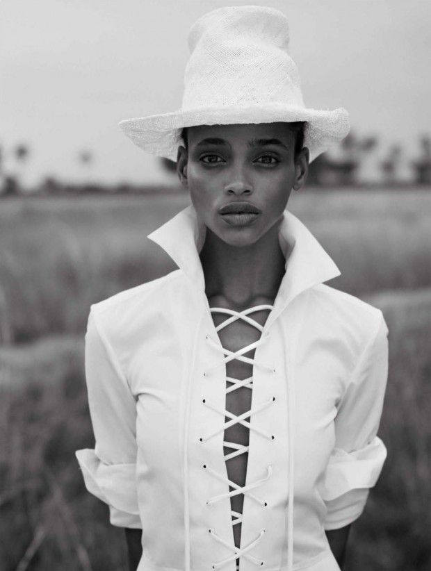 Aya Jones goes on a style safari for Vogue Spain March 2016 by Nico Bustos [fashion]