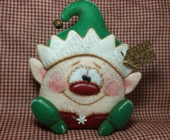 Little Jangle Elf Pattern 196 Primitive Doll by GingerberryCreek