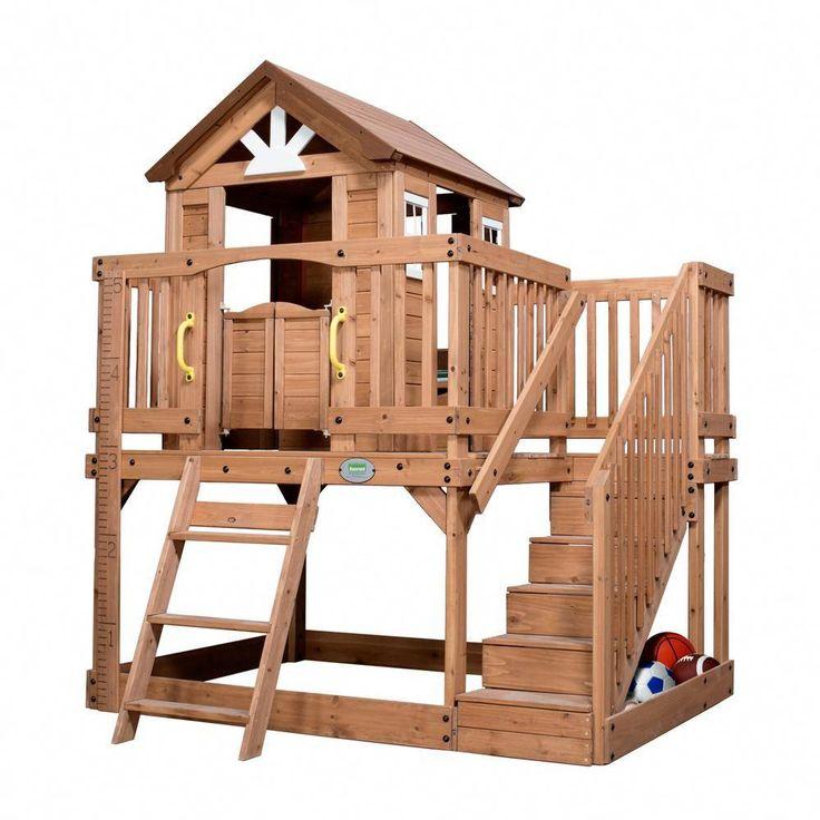 Backyard Discovery Scenic Heights Cedar Playhouse | Play ...