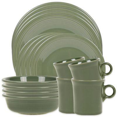 Fiesta 16-Piece Dinnerware Set in Sage  sc 1 st  Pinterest & 16 best dinnerware buying options images on Pinterest | Dish sets ...