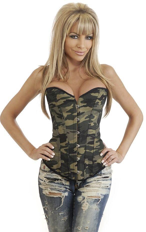 Corsetry and Underwear | corset camuflado army corse espartilho calcinha corset lingerie ...
