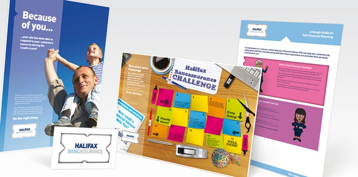 Totality GCS have worked on the Halifax brand for over 10 years and have become instrumental in the development of marketing collateral across every channel of the business.  It's a challenge for any business keeping teams enthusiastic and competitive and one of the key areas we work within is Regulated Sales. We create eye-catching designs that communicate objectives simply and effectively, whilst helping build internal camaraderie.
