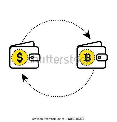 Абстрактный знак обмена валюты в виде улыбки.  Доллар биткойн обмена.  Плоский дизайн.  Векторная иллюстрация изолированный белый фон для веб-сайта или приложения и т. Д.