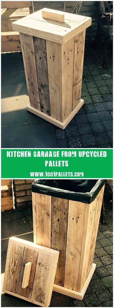 Pallet Kitchen Garbage | 1001 Pallets ideas ! | Scoop.it