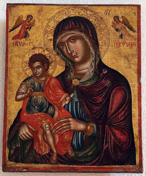 File:Scuola veneto-cretese, icona della madonna col bambino, xvii sec.JPG  Kotor