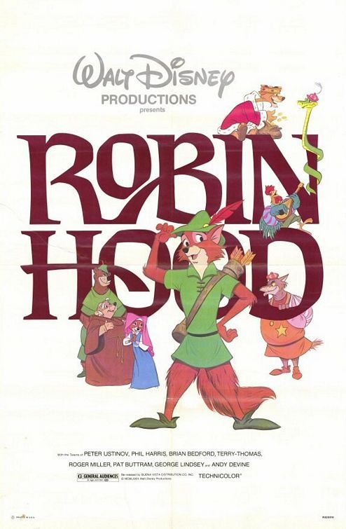 Disneys Robin Hood Movie Poster C1973 Was My Favorite Growing Up