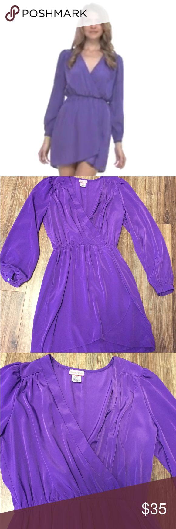 Gabriella Rocha Solinae Dress Size medium. Bright purple. Worn once. Surplice top and tulip hem bottom. Posh only and no trades Gabriella Rocha Dresses