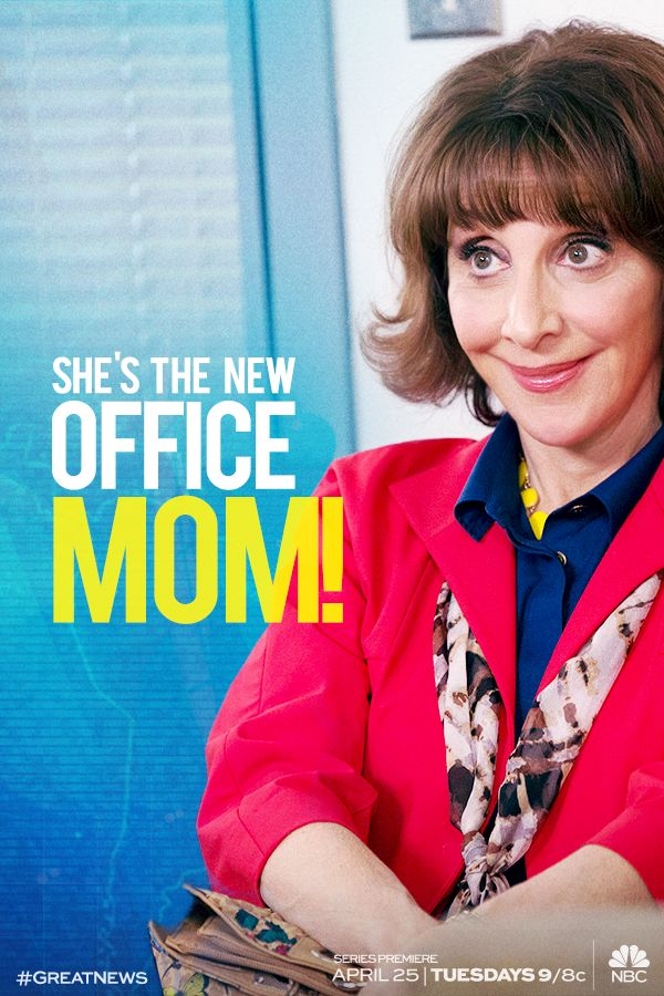 #GreatNews is the mother of all comedies! Don't miss the series premiere Tuesday, April 25 at 9/8c on NBC.