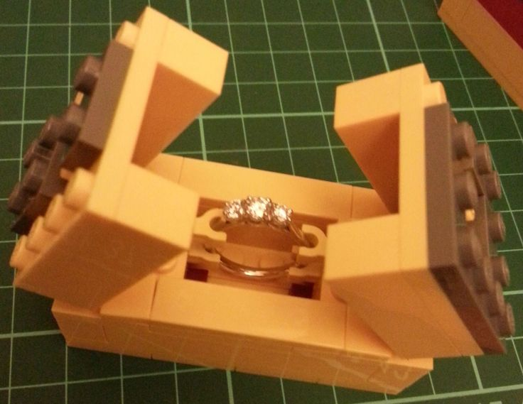 LEGO engagement ring box