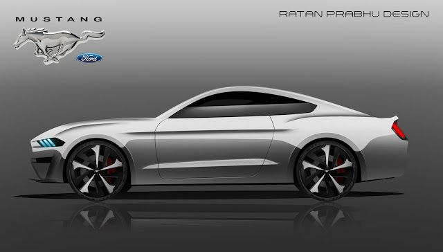RATANDESIGNZ: Ford Mustang GT 2018 Design Sketch Concept