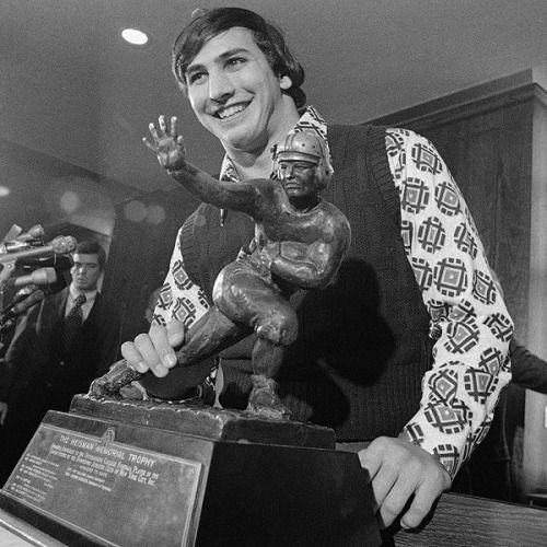 Running back for Penn State John Cappelletti winning the Heisman Trophy (1973)