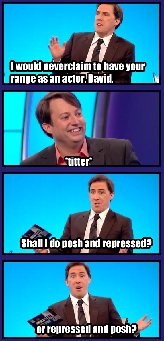 Shall I do posh and repressed, or repressed and posh?