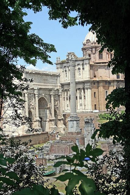 El Foro Romano era el foro de la ciudad de Roma, es decir, la zona central en torno a la que se desarrolló la antigua ciudad y en la que tenían lugar el comercio, los negocios, la religión y la administración de justicia