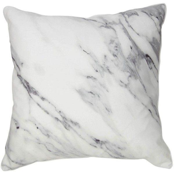 marble pillow 50 liked on polyvore featuring home home decor throw