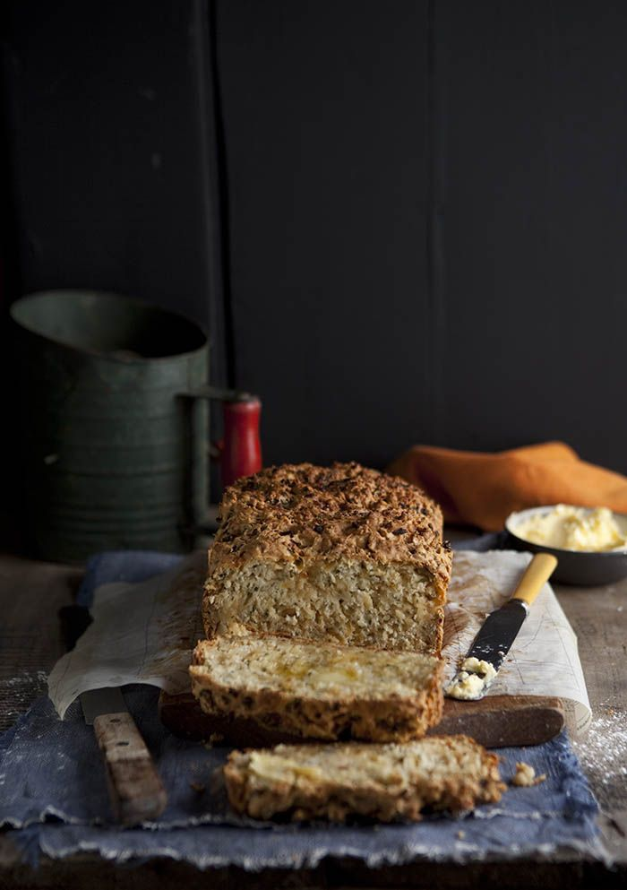 easy cheese and onion bread with herbs