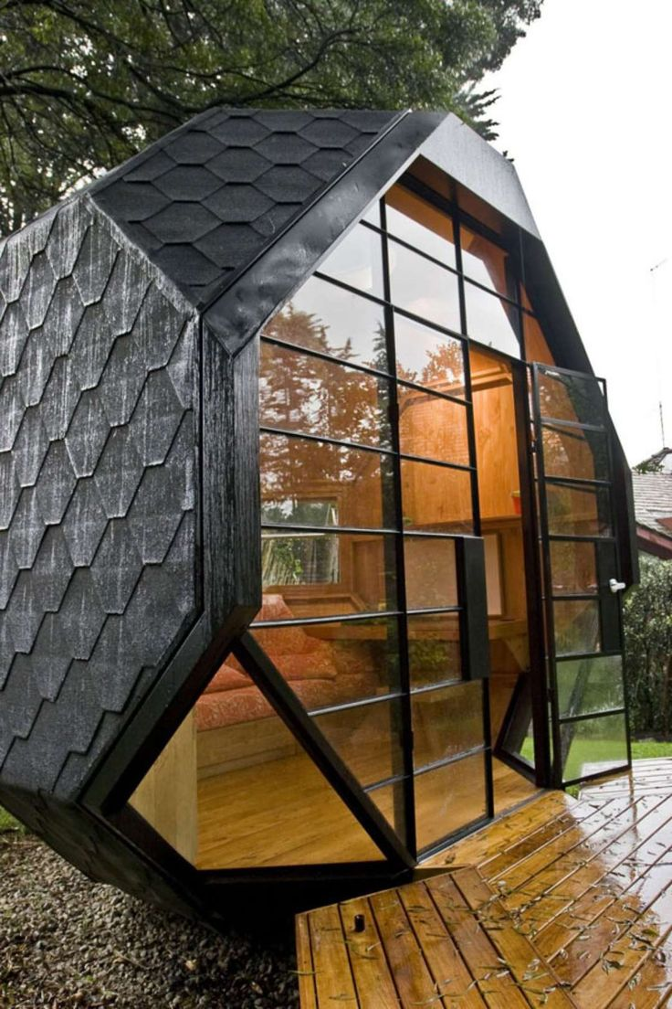 """For those who want a home away from home, but on a budget, consider the """"Habitable Polyhedron"""", a small geometric pod..."""
