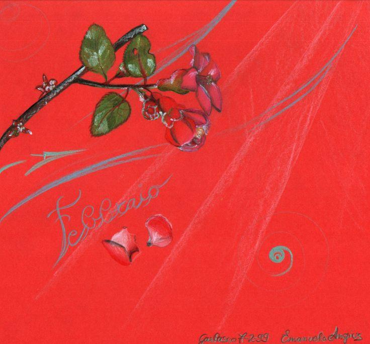 """*IT* Esercizi e pasticci.  Febbraio. Fiori coperti di brina. Un mio vecchio disegno *ENG* Exercises and scribbles.  February. Flowers covered with frost One of my old drawings. *FR* Exercises et gribouillis. Février. Fleurs couverts de givre. Un des mes vieux dessins.  - Puoi trovarmi anche su www.iltempogiusto.it, su Facebook (pagina """"Il Tempo Giusto""""), su Twitter (nebbioluna). Per contattarmi: nebbioluna@gmail.com"""