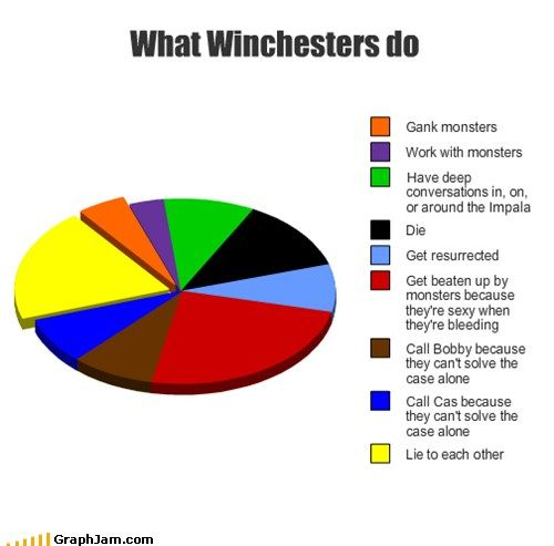 What Winchesters do:  I sincerely think that the writing team saw this and decided to act on some of these categories last season.