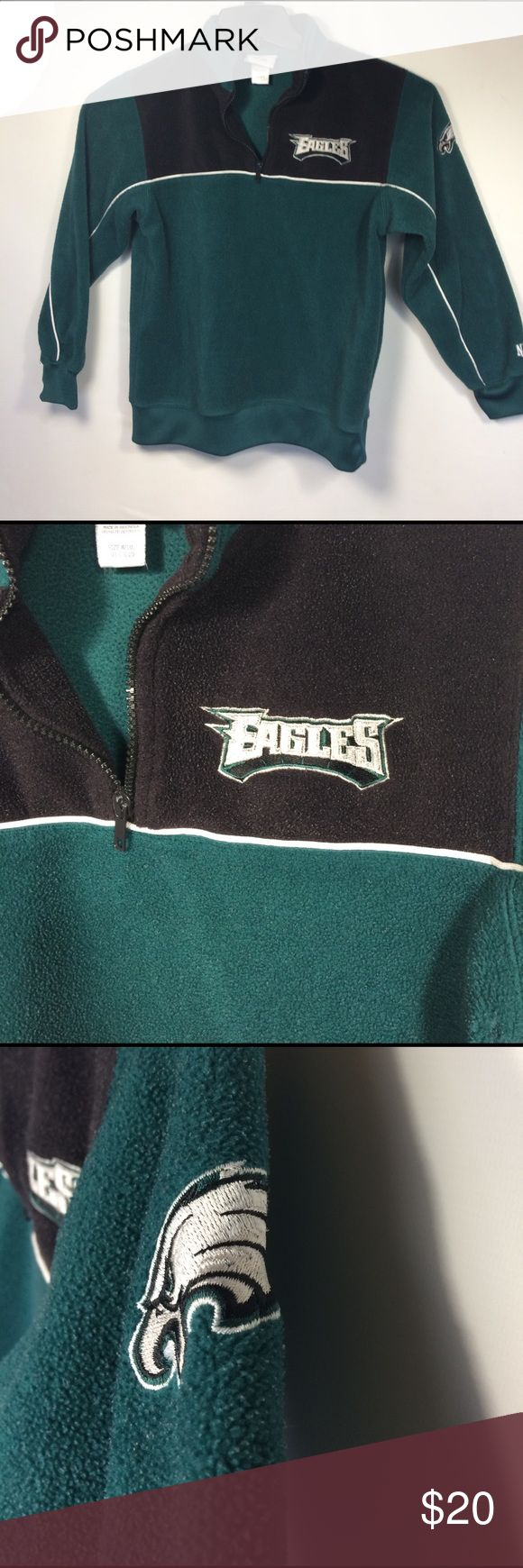 Youth Size 8-10 NFL Philadelphia Eagles Fleece 1/4 Zip Philadelphia eagles youth fleece size 8-10 NFL apparel nfl team apparel Shirts & Tops Sweatshirts & Hoodies