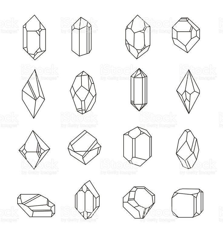 Set Of Non Linear Crystals Minerals From Landfills For