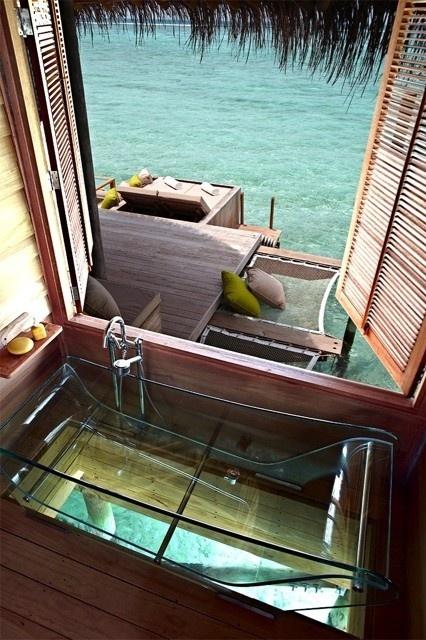 .Theocean, Bath Tubs, Dreams, The Ocean, Bathtubs, Best Quality, Places, Bathroom, Borabora