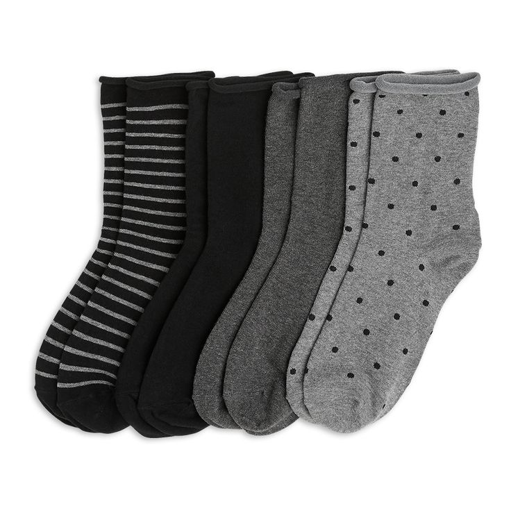 Mjuka och sköna sockor med olika nyanser och mönster.