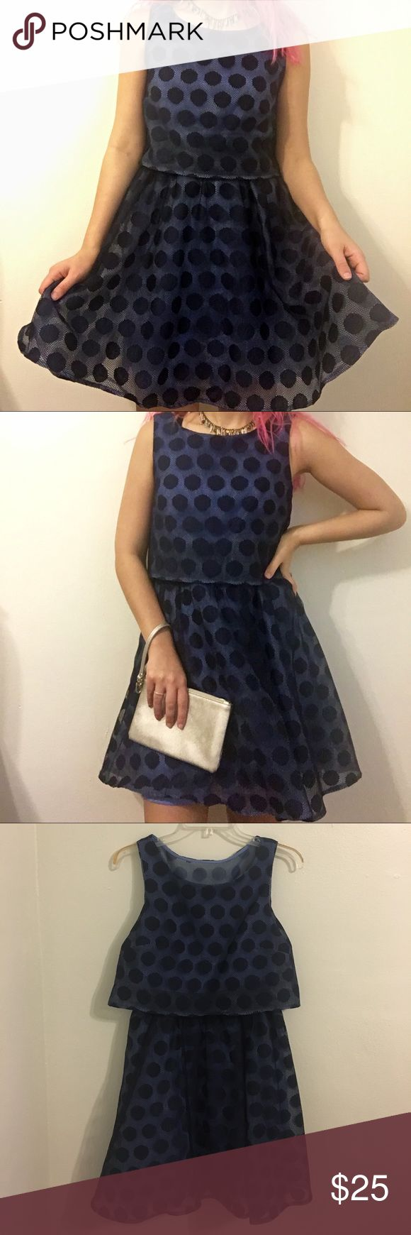 Betsey Johnson lace, polka dot cocktail dress comfortable, quirky, and perfect for a cocktail party, Excellent-used condition. Feel free to make me an offer! There's always time for a cocktail 🍸 Betsey Johnson Dresses Mini