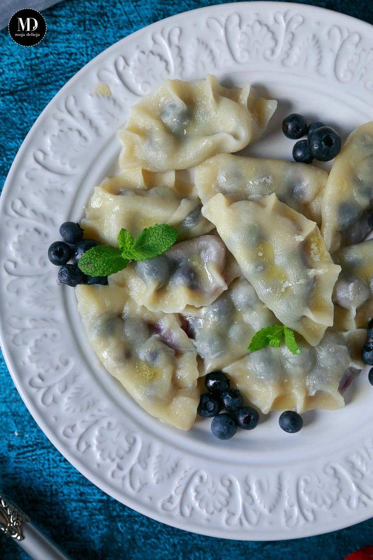 Pierogi z borówkami bez cukru //  Blueberry dumplings    #mojadelicja #food #nosugar #bezcukru #foodporn #foodphoto #photography #lato #summer #pierogi