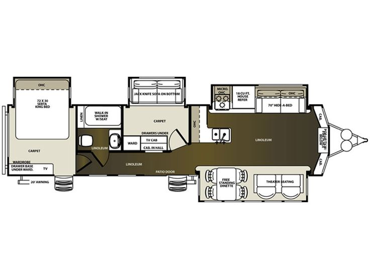 2015 Sandpiper Destination 385fkbh Floorplan Household