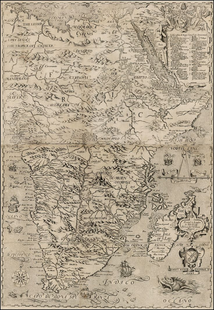 Map of Africa, 1598.#antique #maps #Africa