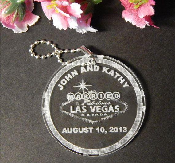 50 Key Chain Favors  Las Vegas Wedding by FinesseLaserDesigns