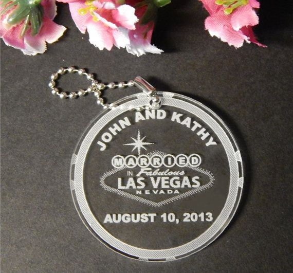 100 Key Chain Favors  Las Vegas Wedding by FinesseLaserDesigns