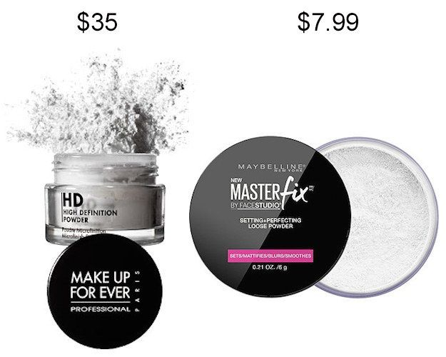 Try Maybelline Master Fix Setting + Perfecting Powder in place of Make Up For Ever HD Microfinish Powder and save about $27. | 19 Insanely Good Makeup Dupes That Will Save You Tons Of Money