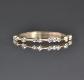Diamond Dotted Ring from Katoaka Jewelry