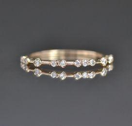 Diamond Dotted Ring from Katoaka Jewelry