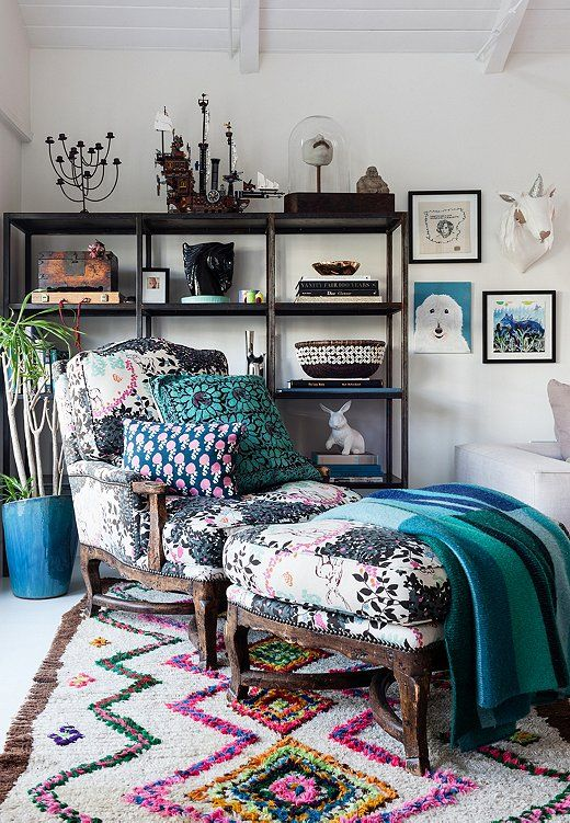 Inside the Luxe Bohemian Home of Designer Irene Neuwirth