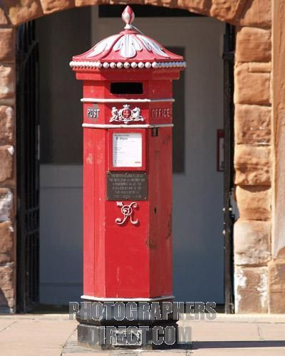 Vintage British postal box, Carlisle,UK