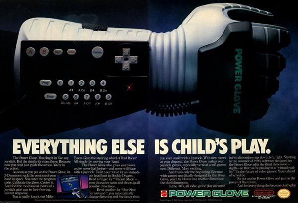 Nintendo Power Glove Advertisements - NES Photos - 1074827 | Retro MMGN Australia