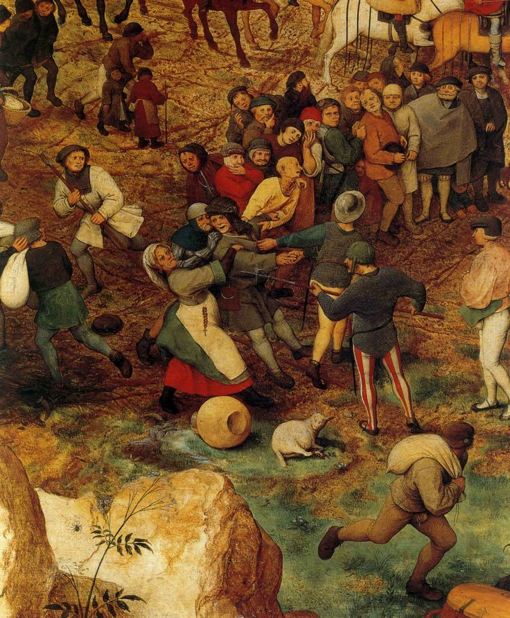 1564 Pieter Bruegel the Elder – The Procession to Calvary, left lower Detail