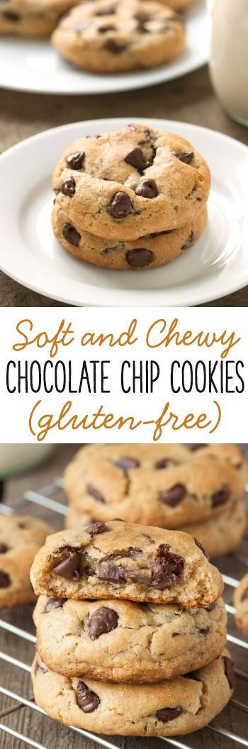 Nobody will miss the gluten in these soft and chewy gluten-free chocolate chip cookies!