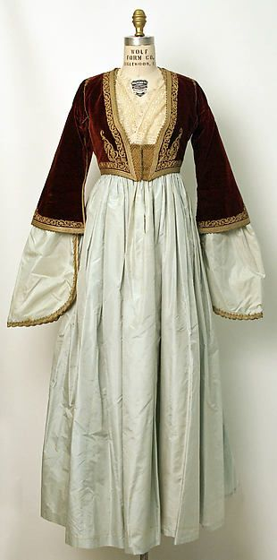 1835-1949 Greek ensemble (silk, wool, metallic embroidery) | Metropolitan Museum of Art